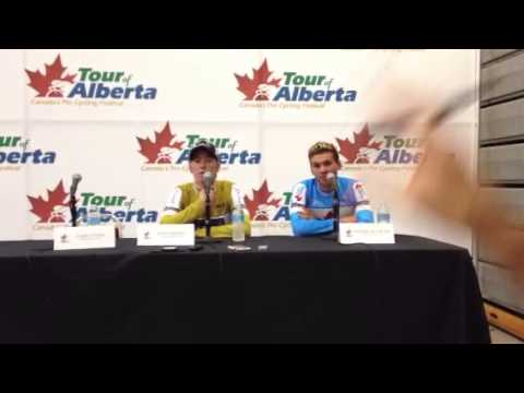 Press Conference w/Dennis and Duschesne at Tour of Alberta