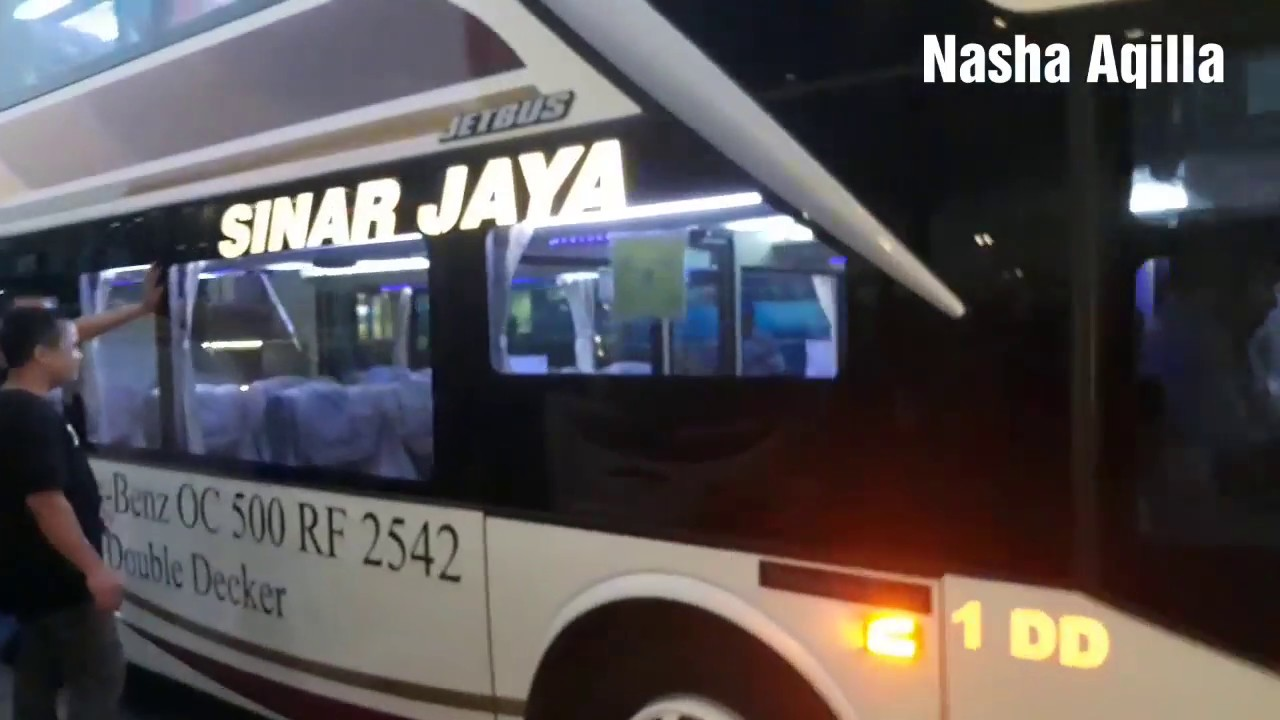 Mewahnya Bus Sinar Jaya Double Decker Di Terminal Pulogebang Youtube