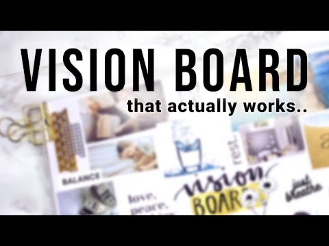 How to Create a 2021 VISION BOARD That Works | Reflections, Goal Setting & Vision Board Planning