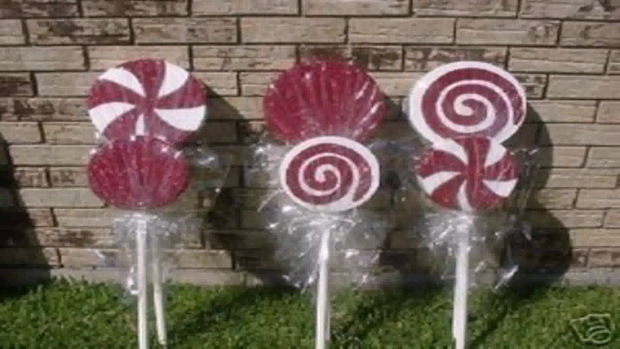 Christmas Candy Decorations.Diy Outdoor Christmas Candy Decorations Gif Maker Daddygif Com