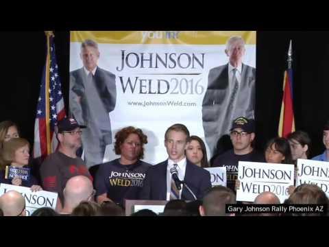 Gary Johnson Rally in Phoenix, Arizona 10 1 2016 Gary Johnson Live Speech