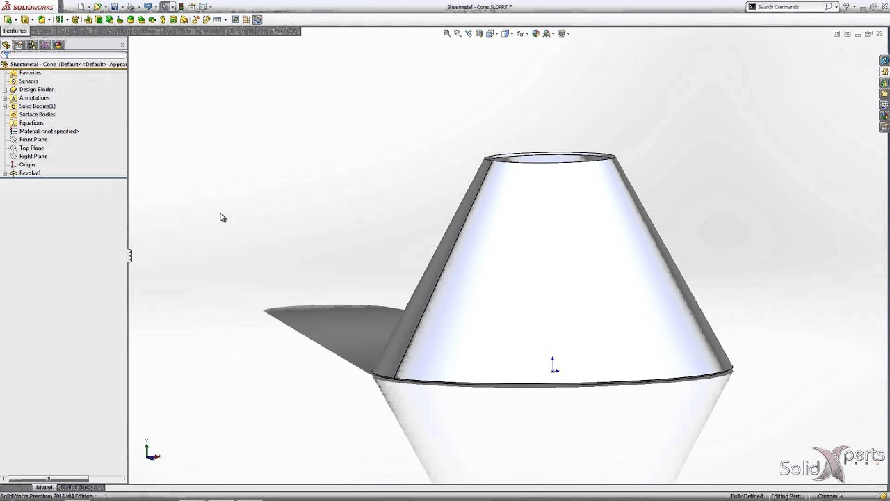 How To Create A Sheet Metal Cone With Solidworks March