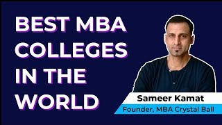 Best MBA Colleges in the World - USA, Canada, UK, Australia, India