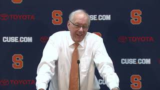 Jim Boeheim  vs Georgetown Postgame