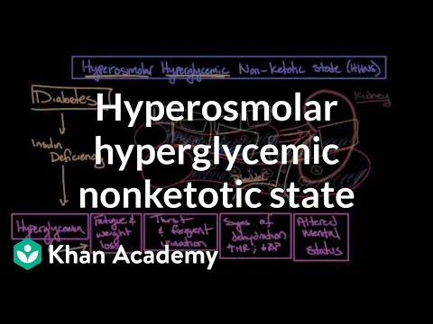 Acute complications of diabetes - Hyperosmolar hyperglycemic nonketotic state | Khan Academy