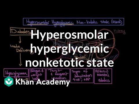 Acute complications of diabetes - Hyperosmolar hyperglycemic nonketotic state | Khan Academy