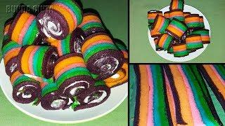 Rainbow Roll Cake | Bolu Gulung Mini Pelangi