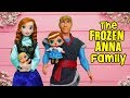 LOL Families ! The Frozen Anna Family & the New Baby | Toys and Dolls Pretend Play for Kids | SWTAD