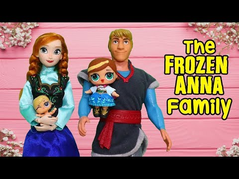 LOL Dolls Families ! The Frozen Anna Family & the New Baby | Toys and Dolls Pretend Play for Kids
