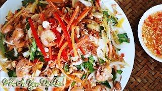 GỎI ĐU ĐỦ TÔM THỊT Chua Ngọt Giòn thơm ngon đầy hấp dẫn | Kieu Cooking | Món Ăn Ngon Dễ Làm