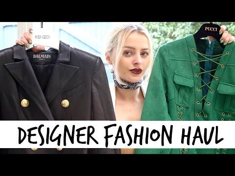 Designer Clothing Fashion Haul   Valentino, Balmain, Cavalli, Isabel Marant and more