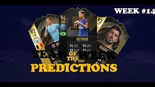 TEAM OF THE WEEK 14 PREDICTIONS - FIFA 18 - TOTW 14 Ft. Neymar, De Bruyne, Suaréz en meer!