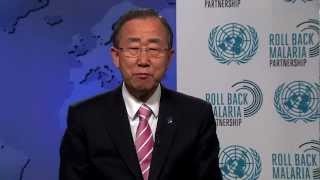 UN Secretary General Ban Ki-moon  opens Australia malaria 2012 Conference