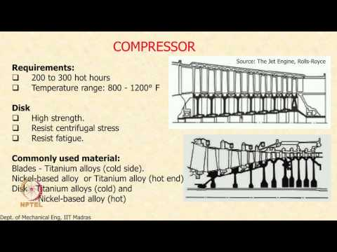 Mod-01 Lec-28 Components of the Gas Turbine Engine