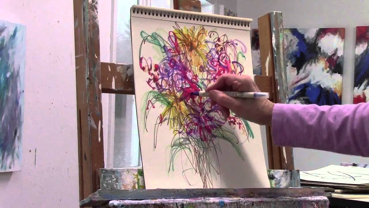 Drawing Abstract Flowers