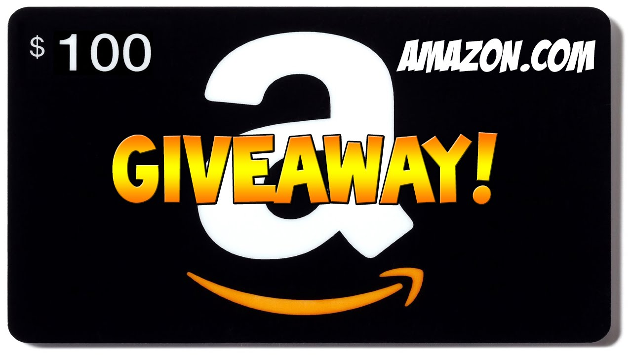 Amazon 100 gift card giveaway amazon youtube negle Gallery