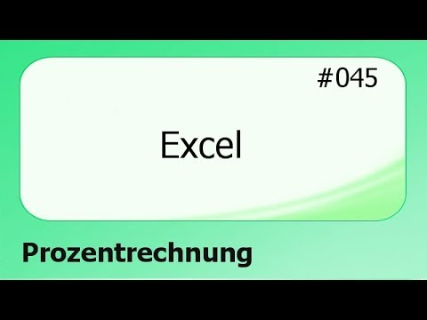 Excel 045 Prozentrechnung Deutsch Youtube