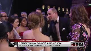 Príncipe William conoció a Yalitza Aparicio y al elenco de