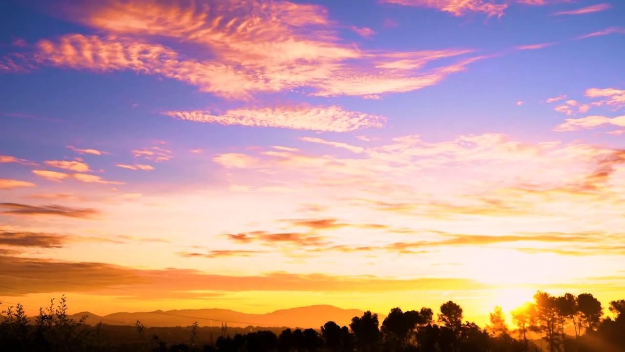 Timelapse 4K free stock footage amazing sunrise relaxing background