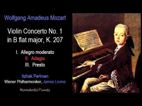 Mozart Violin Concerto No. 1 in B flat major, K. 207; Perlman, Levine, Vienna Phil.