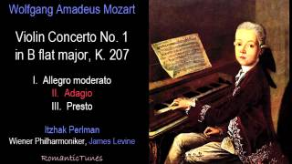 Mozart Violin Concerto No. 1 in B flat major, K. 207; Perlman, Levine, Vienna Phil.