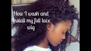 Washing and Styling my full lace wig from Aliexpress (Part 2) | FLAWLESSHAIRSTYLE