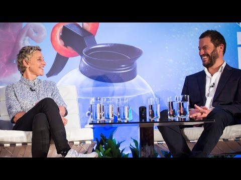 FINDING DORY UK Press Conference - Ellen DeGeneres, Dominic West