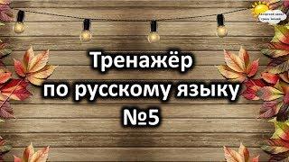 Тренажёр по русскому языку №5.