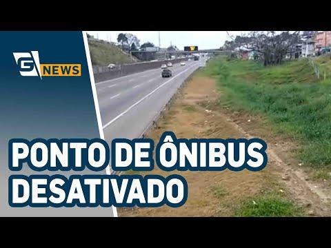Ponto de ônibus desativado em Guarulhos