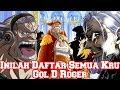 INILAH DAFTAR SEMUA KRU GOL D ROGER YANG SUDAH DIKETAHUI (One Piece)
