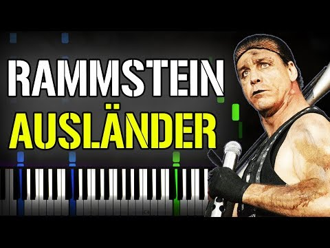Rammstein - Ausländer Piano Tutorial (Sheet Music + midi) + Synthesia cover