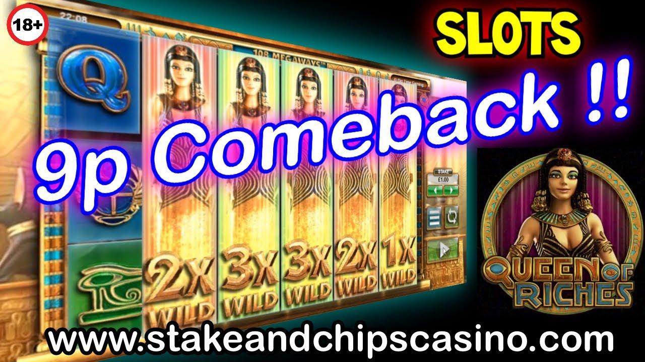 9p - to BIG WIN !!  - QUEEN OF RICHES -  CASINO BONUS ROUND WIN !!