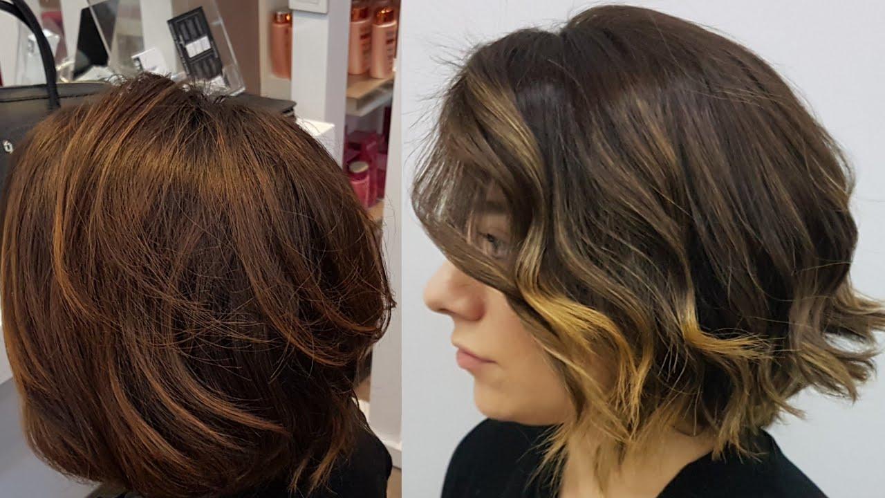 Küllü Koyu Kumral Saç Renginin Uçlarına Sombre Balyaj Yapımı Youtube
