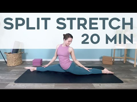 splits  20 minute split stretch  yoga for splits  youtube