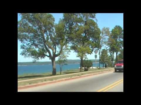 U.S. 31 north in Michigan from Charlevoix to Mackinac Bridge.wmv