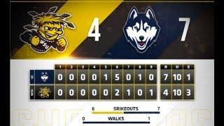 UConn Baseball Highlights v. Wichita State 04/13/2018 (Game 1)