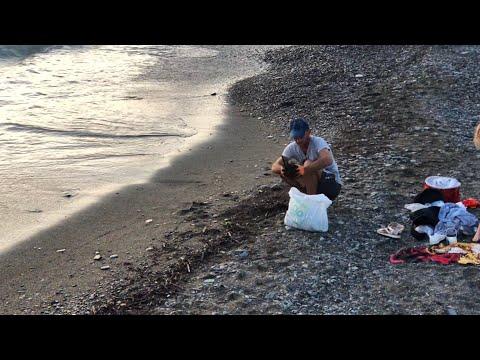 Жесть на главном пляже Сочи. 06.09.2019 Погода в Сочи в сентябре. Смотри на Чёрное море каждый день.