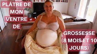 On plâtre mon ventre de grossesse (8 mois et 10 jours) | Millie & Marco