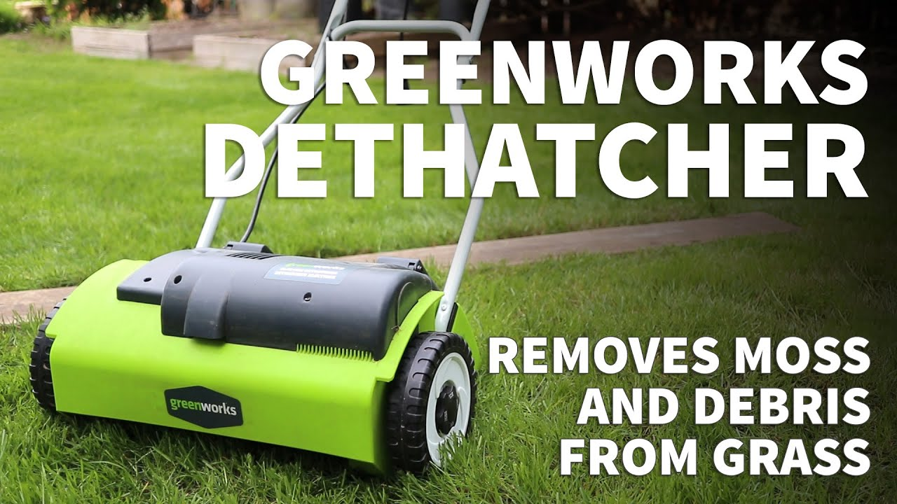 Greenworks Electric Dethatcher Review How To Remove Moss And Dead Grass With Lawn Dethatcher Youtube If you are looking for a tool to help you get the job done with ease, then greenworks' dethatcher is the way to go! greenworks electric dethatcher review how to remove moss and dead grass with lawn dethatcher