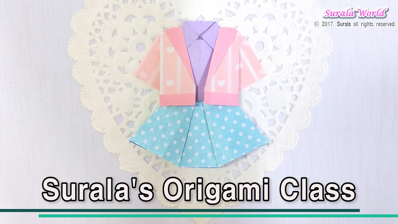 Origami Girls Clothes Jacket Shirt Skirt Youtube