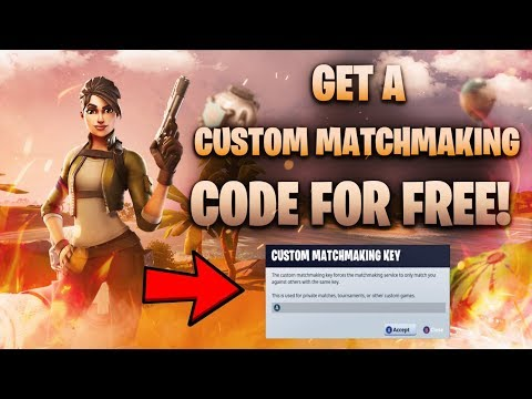 How To Get *CUSTOM MATCHMAKING KEY* On Fortnite Chapter 2! + Support-A-Creator Code!