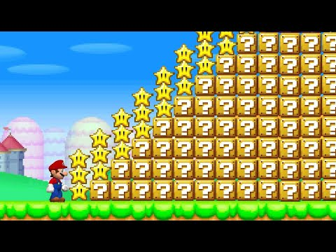 Can Mario Jump Over 999 Item Blocks and Collect 999 Stars in New Super Mario Bros. DS ? |