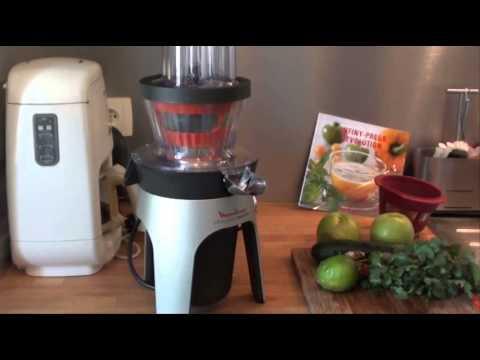 Jus green detox avec l 39 infiny press revolution de moulinex youtube - Moulinex infiny press revolution ...