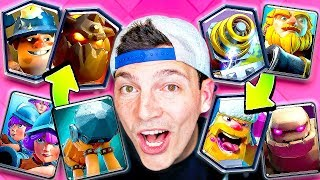 Playing CLASH ROYALE Deck Roulette ends in DISASTER! (RAGE WARNING)