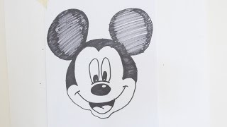mickey mouse drawing easy draw step