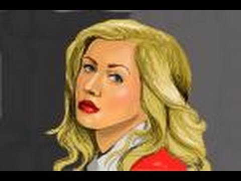 How To Draw Christina Aguilera Youtube