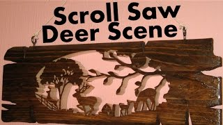 Scroll Saw Deer Scene - Pallet Up Cycle Challenge