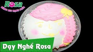 Bánh kem sinh nhật hình cô gái mặt cười - Birthday Cake with smile face