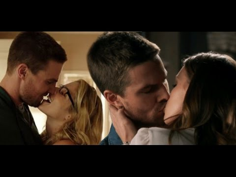 Stephen Amell ALL Arrow Kisses Hot s FROM Season 1Stephen Amell