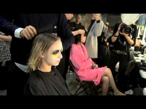 Backstage at London Fashion Week SS15 with Sophia Webster